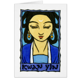 Kwan Yin Greeting Card