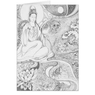 Kwan Yin Greeting Card