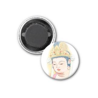 Kwan Yin o Guanyin Imán Redondo 3 Cm