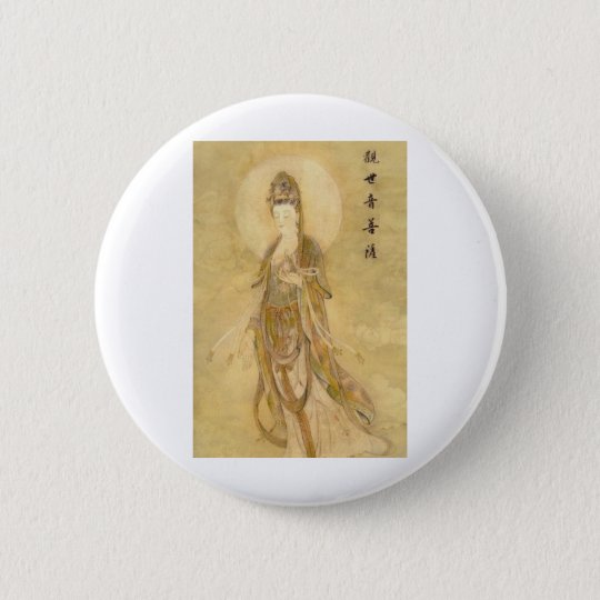 Kwan Yin The Goddess of Compassion Button