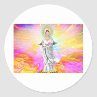 Kwan Yin The Goddess of Compassion Classic Round Sticker