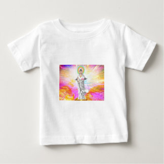 Kwan Yin The Goddess of Compassion With Pink Baby T-Shirt