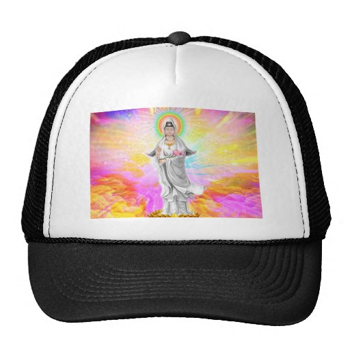 Kwan Yin The Goddess of Compassion With Pink Trucker Hat
