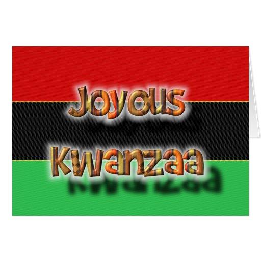Kwanza feliz tarjeta de felicitación