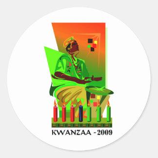 Kwanzaa 2009 classic round sticker