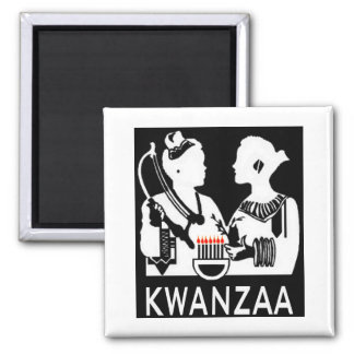 Kwanzaa 2 Inch Square Magnet