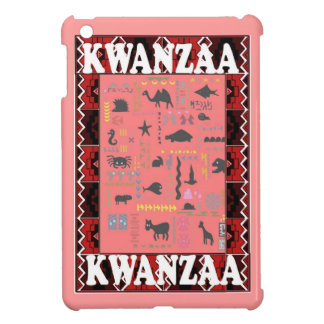 Kwanzaa, AFrican animals, pink Cover For The iPad Mini