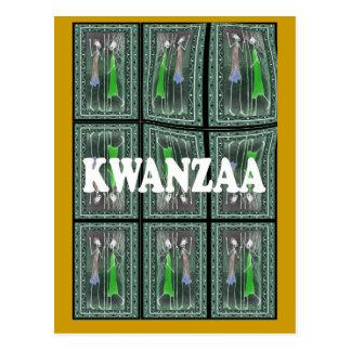 Kwanzaa - African characters 1 Postcard