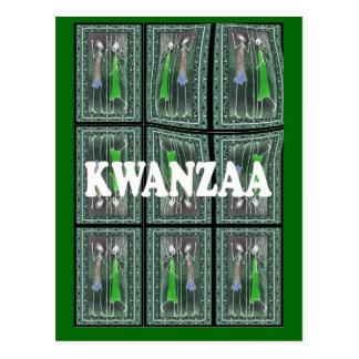 Kwanzaa - African characters 2 Postcard