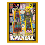 Kwanzaa - African characters Postcard