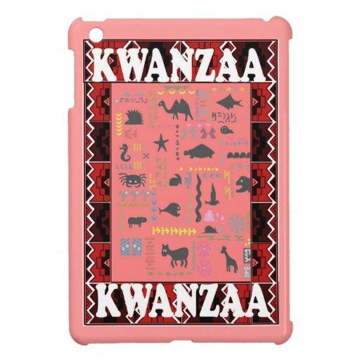 Kwanzaa, animales africanos, rosados iPad mini funda