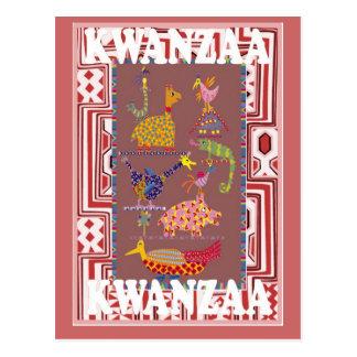 Kwanzaa - animals postcard