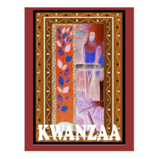 Kwanzaa - arte africano postal