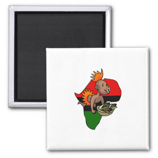 Kwanzaa Baby 2 Inch Square Magnet