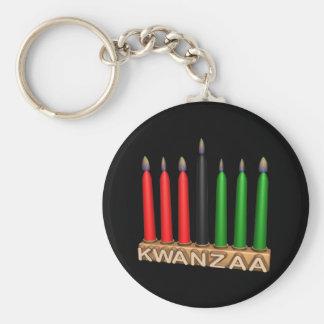 Kwanzaa Basic Round Button Keychain