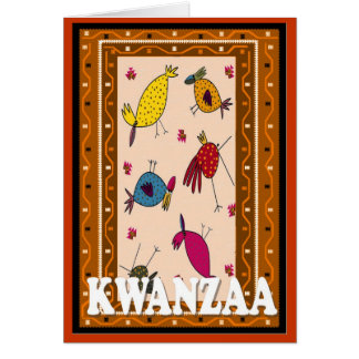 Kwanzaa, bird-talk card