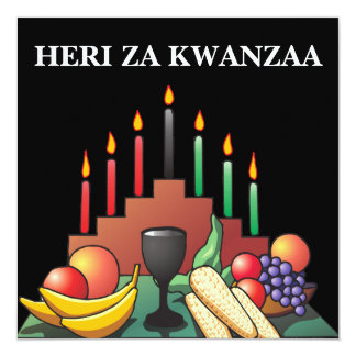 Kwanzaa Blessing Flat Greeting Card Personalized Invitations