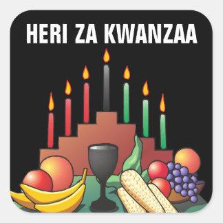 Kwanzaa Blessing Square Sticker