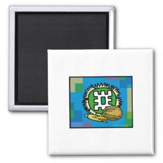 Kwanzaa Blue 2 Inch Square Magnet