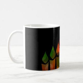 Kwanzaa Bokeh Kinara Coffee Mug