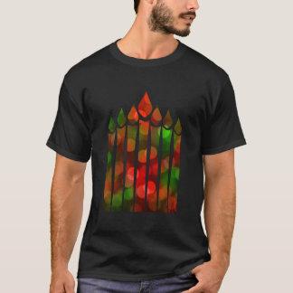 Kwanzaa Bokeh Kinara T-Shirt