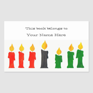 Kwanzaa Bookplates with Candles
