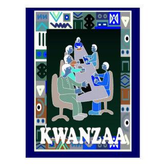 Kwanzaa - business meeting postcard