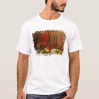Kwanzaa candles and food T-Shirt