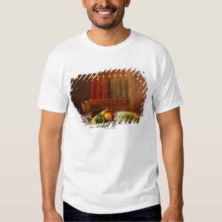 Kwanzaa candles and food t-shirts