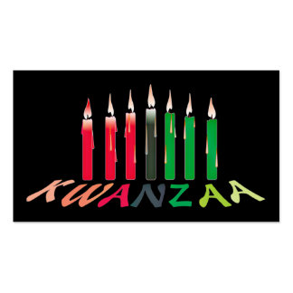 Kwanzaa Candles Business/hand out Card Business Card Templates
