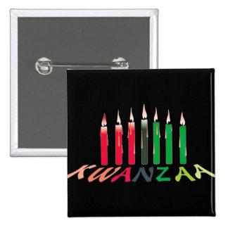 Kwanzaa Candles Buttons