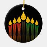 kwanzaa candles ceramic ornament