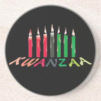 Kwanzaa Candles Coaster