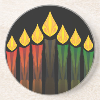 kwanzaa candles drink coaster