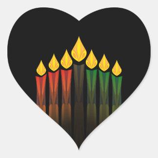 kwanzaa candles heart sticker