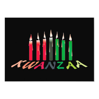 Kwanzaa Candles Invitation