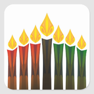 kwanzaa candles square sticker