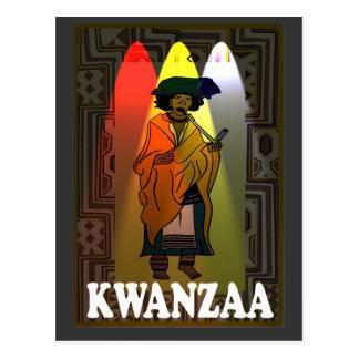 Kwanzaa - carácter africano postal