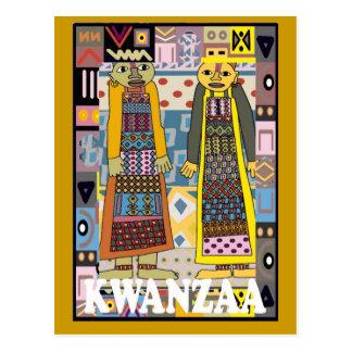 Kwanzaa - caracteres africanos postal