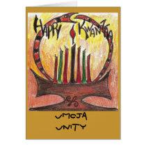 kwanzaa card, Umoja Unity Card