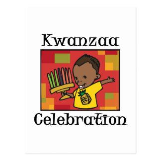 Kwanzaa Celebration boy Postcard