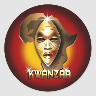 Kwanzaa Classic Round Sticker