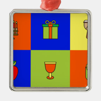 kwanzaa colorblock metal ornament