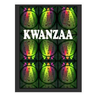 Kwanzaa - = colores de Kwanzaa Postal