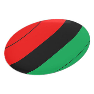 Kwanzaa Colors Red Black Green Stripes Pattern Dinner Plate