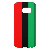 Kwanzaa Colors Red Black Green Stripes Pattern Samsung Galaxy S7 Case