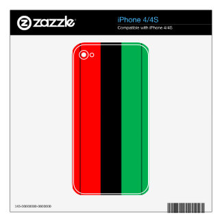 Kwanzaa Colors Red Black Green Stripes Pattern Skin For iPhone 4