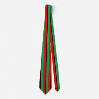 Kwanzaa Colors Red Black Green Stripes Pattern Tie