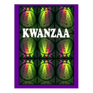 Kwanzaa -= Colours of Kwanzaa Postcard