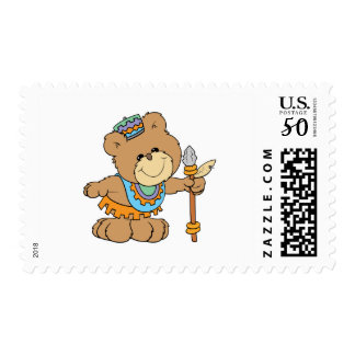 KWANZAA cute teddy bear design Postage